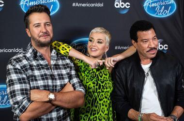 American Idol judges Luke Bryan, Katy Perry and Lionel Richie