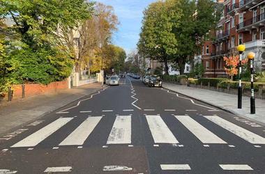 Abbey Road, Zig Zag Crosswalk, Zebra Crossing, The Beatles, 2018
