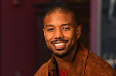 Michael B. Jordan, Portrait, Smile, Brown Jacket, 2018