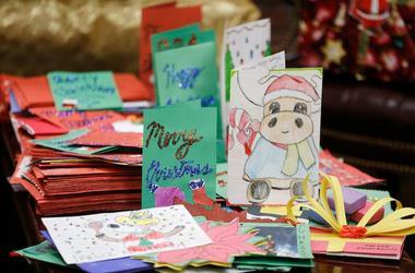 Christmas Cards, Handwritten, Cartoon, Reindeer