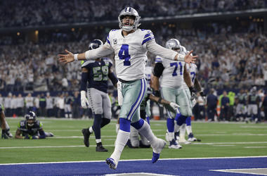 Dak Prescott, Dallas Cowboys, Touchdown, Celebration, Seattle Seahawks, Playoff, 2019