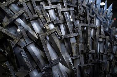 Game of Thrones, Iron Throne, Replica, Close Up, Swords