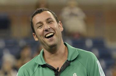 Adam Sandler, Smiling, Green Polo