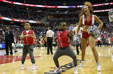 Kid Dancing At An NBA Game