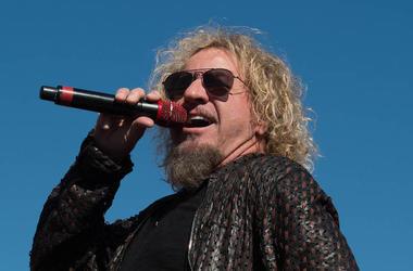 Sammy Hagar, Van Halen, Singing, Outdoors, Sunglasses, Texas Motor Speedway, 2015