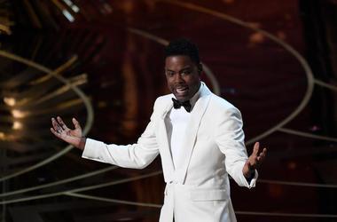 Chris Rock, Speaking, Stage, 88th Academy Awards, White Tuxedo, 2016