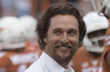 Matthew McConaughey, Texas Longhorns, Football, Smile, 2016