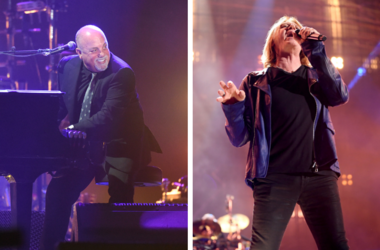 Billy Joel and Joe Elliott of Def Leppard