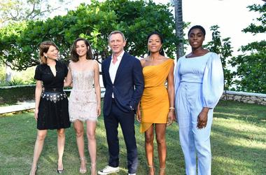 Cast members Léa Seydoux, Ana de Armas, Daniel Craig, Naomie Harris and Lashana Lynch