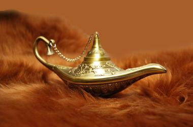 Aladdin Lamp, Brown Fur