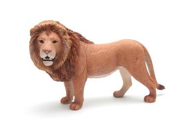 Toy Lion, Plastic, Isolated, White Background