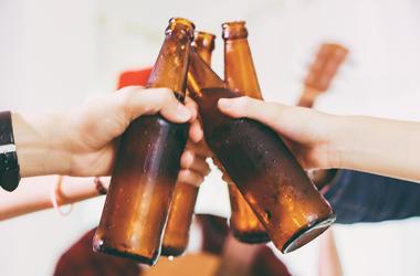 Friends, Party, Beer, Bottles, Cheers