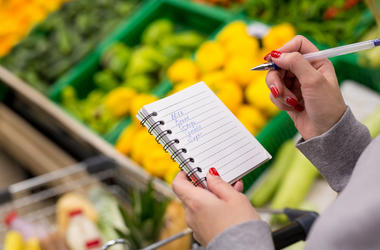 Woman, Grocery Shopping, Shopping List,
