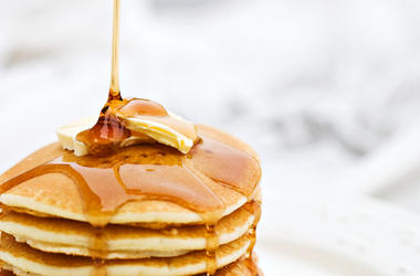 Pancakes, Dripping Syrup