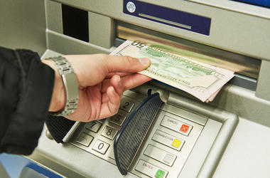 ATM, Cash Machine, Withdrawal, Dollar Bills