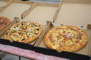 Pizza, Open Boxes, Serving