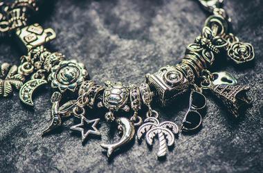 Silver, Jewelry, Bracelet, Charms