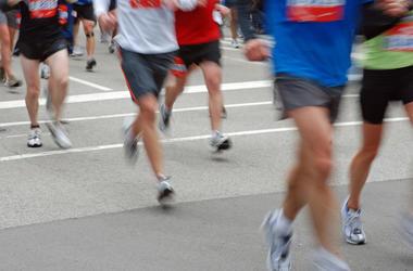 Marathon, Runners, Running, Legs