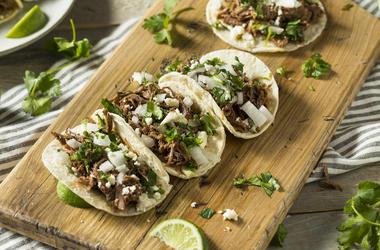 Beef Barbacoa Tacos, Wooden Board