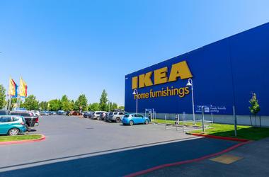 IKEA, Facade, Store, Entrance, Parking Lot