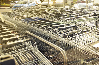 Shopping Carts, Organized, Return Area
