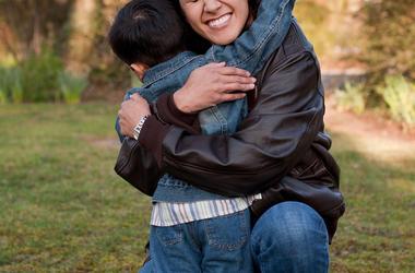 Toddler, Hug, Mother, Child, Park, Smile, Sweet