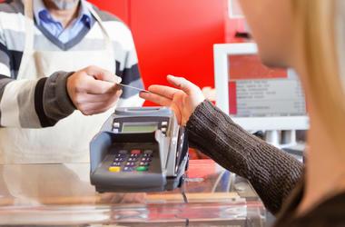 Cashier, Store, Female, Customer, Credit Card