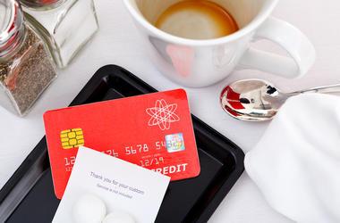 Restaurant, Check, Bill, Credit Card, Coffee