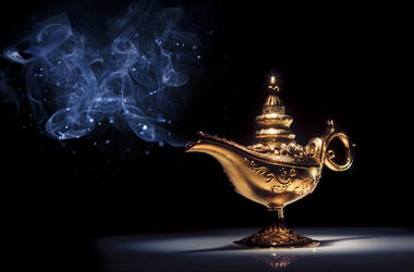 Aladdin, Genie, Lamp, Blue Smoke