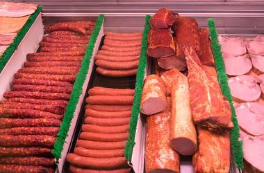 Deli, Meat, Ham, Sausage, Counter