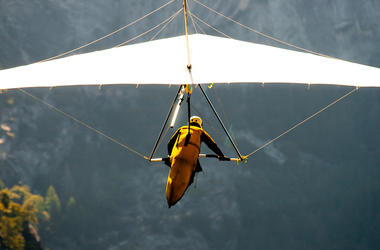 Hang Gliding, Valley, Yosemite National Park