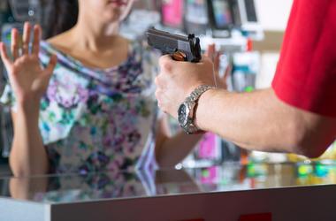 Thief, Robber, Gun, Cashier