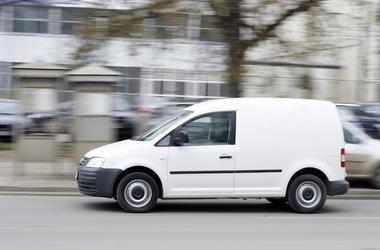 Delivery, Van, Street