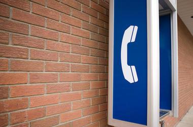 Abandoned, Pay Phone, Brick Wall