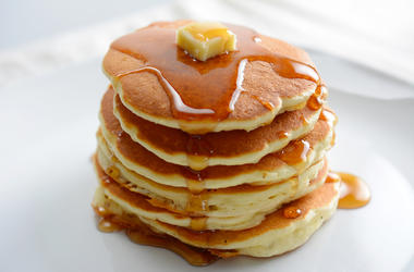 Pancakes, Syrup, Butter