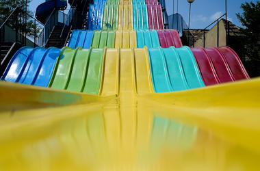 Giant, Colorful, Rainbow Slide