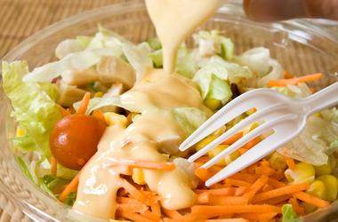 Fast Food, Salad, Plastic Fork