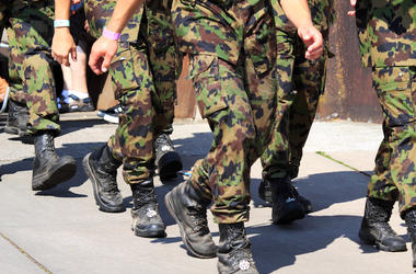 Army, Uniform, Legs, Walking