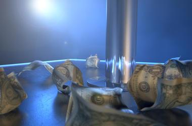 Stripper Pole, Dollar Bills, Tips