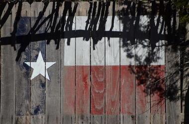 Texas, Flag, Cedar Planks, Wood, Painted