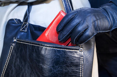 Mugger, Robber, Purse, Thief, Black Gloves