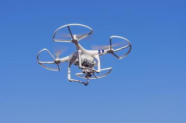 Drone, Flying, Blue Sky