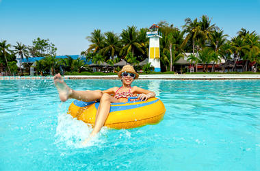 Teen, Water Park, Swimming, Floaty