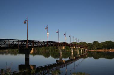 Dallas, White Rock Lake, Pedestrian Bridge