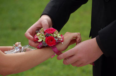 High School, Prom, Wrist, Corsage
