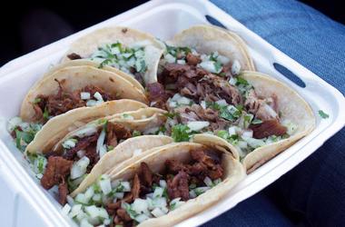 Tacos Al Pastor, Food, Styrofoam Box, Tacos