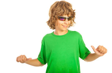 Kid In A Green Shirt
