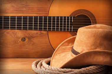 Hat, Rope, and Guitar