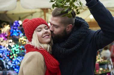 Couple Under The Mistletoe