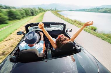 Couple, Road Trip, Love, Car